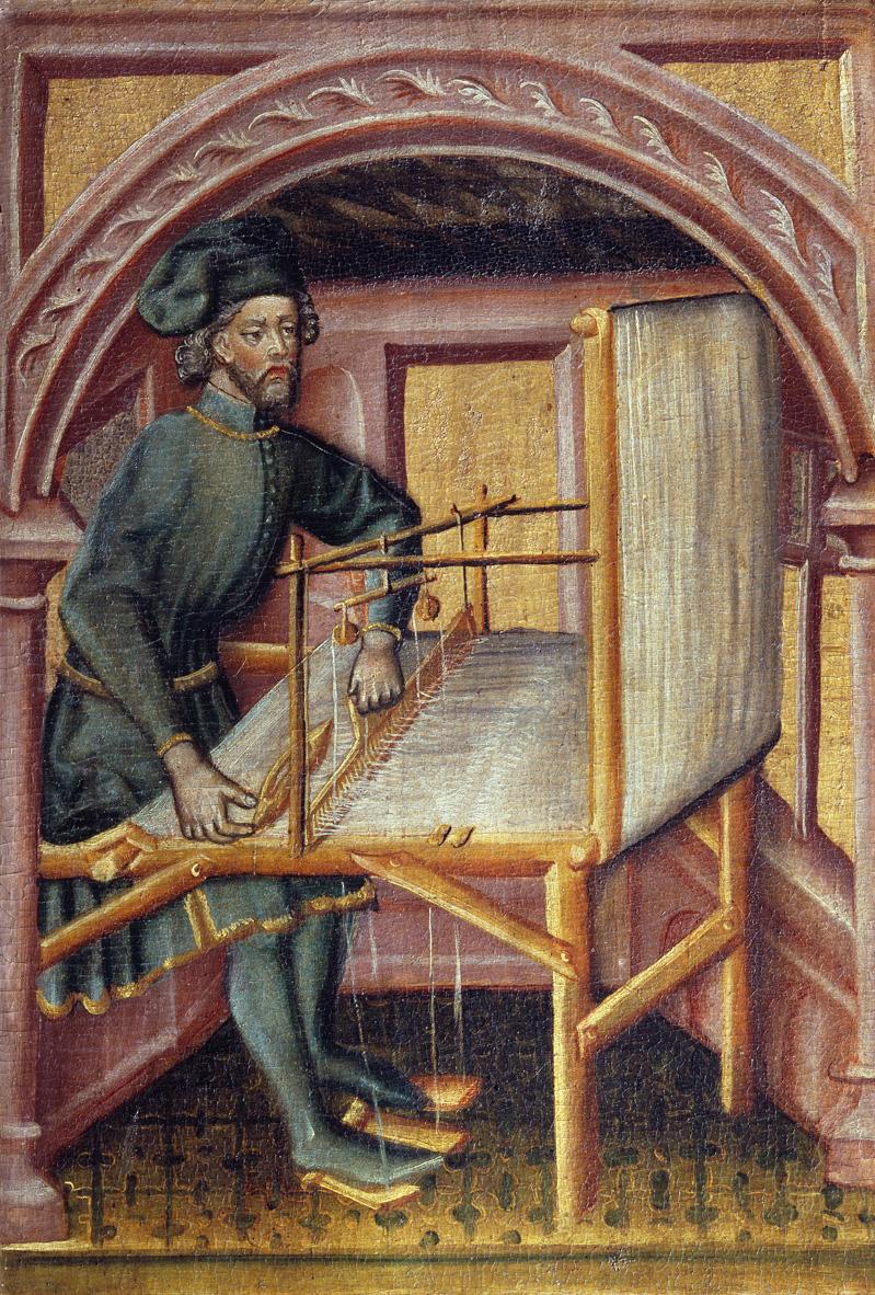 Hl. Severus beim Weben REALonline 018728