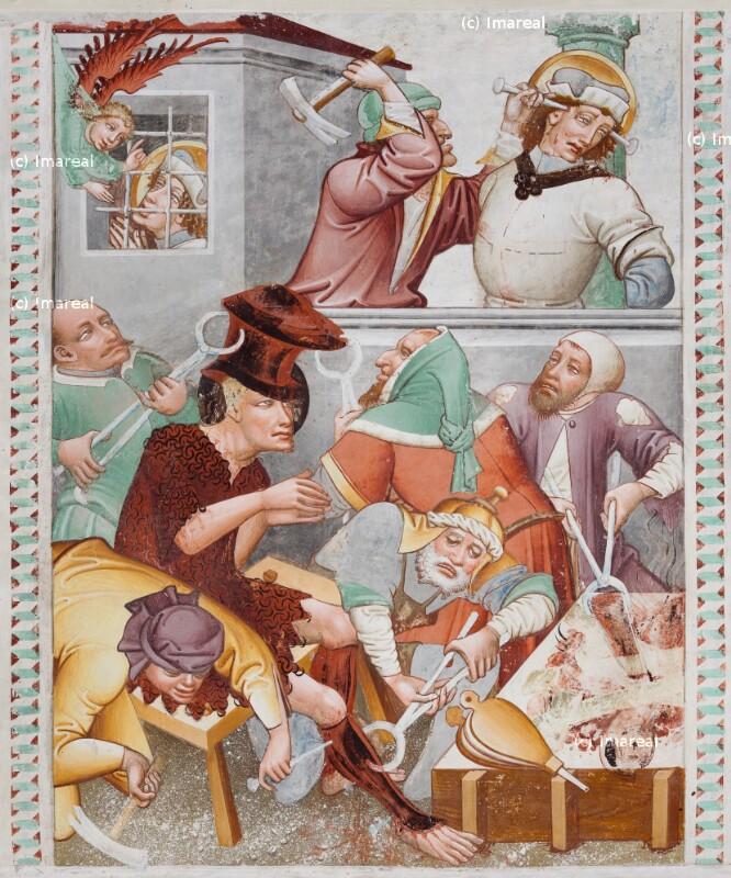 Hl. Georg wird im Gefängnis vom Engel getröstet von Thomas von Villach
