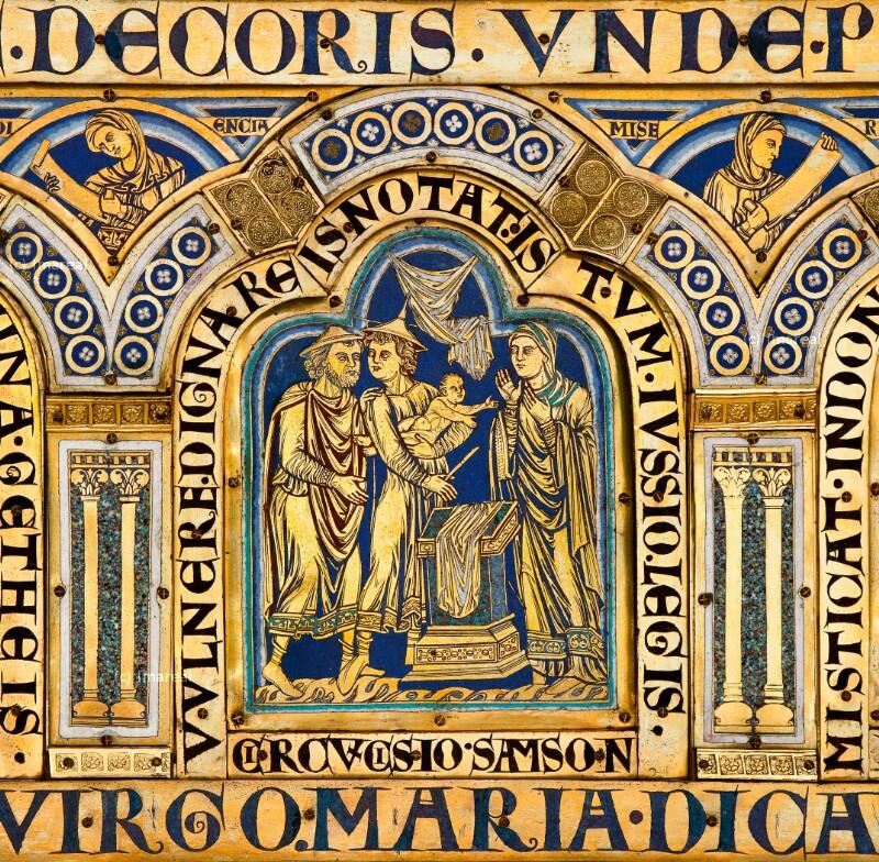 Die Beschneidung Simsons von Nikolaus von Verdun