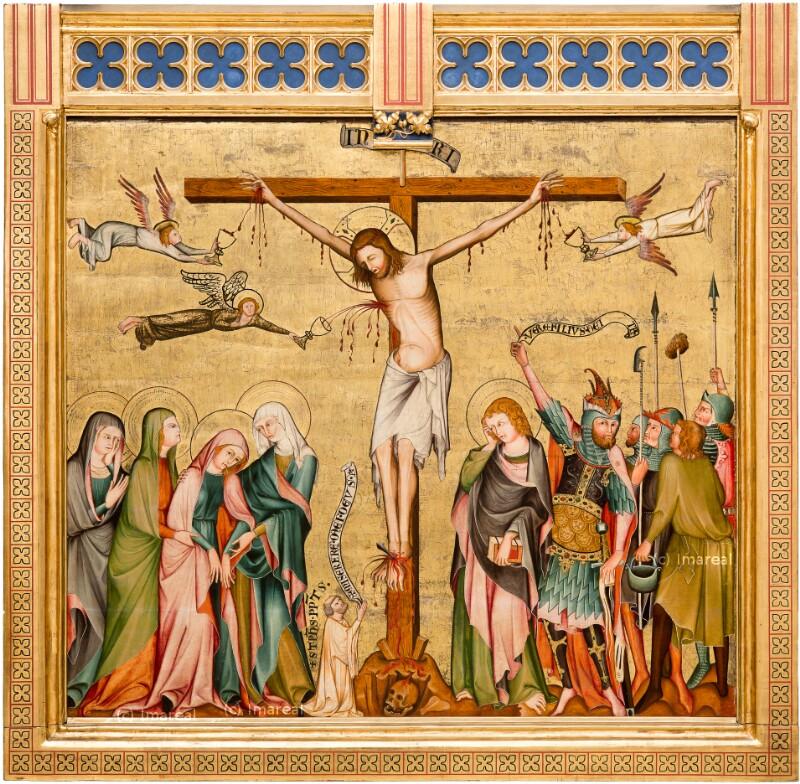 Kreuzigung Christi von Meister der Rückseite des Verduner Altars