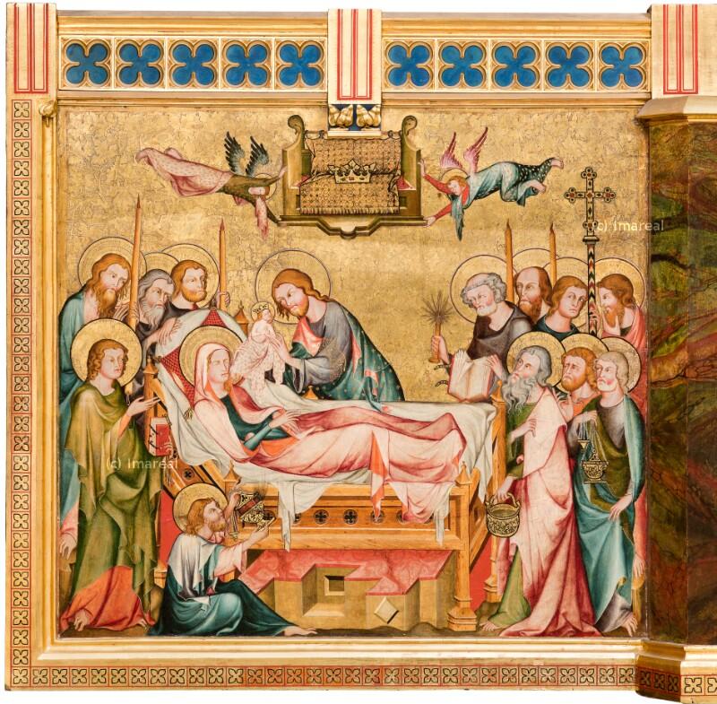 Tod Mariens von Meister der Rückseite des Verduner Altars