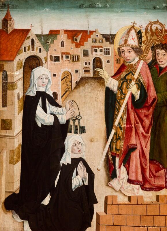 Visitation eines Nonnenklosters durch den Hl. Korbinian von