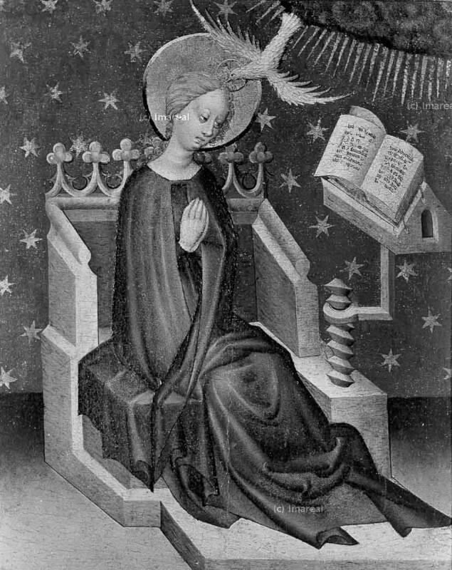 Verkündigung an Maria von Meister der Mondsichelmadonna