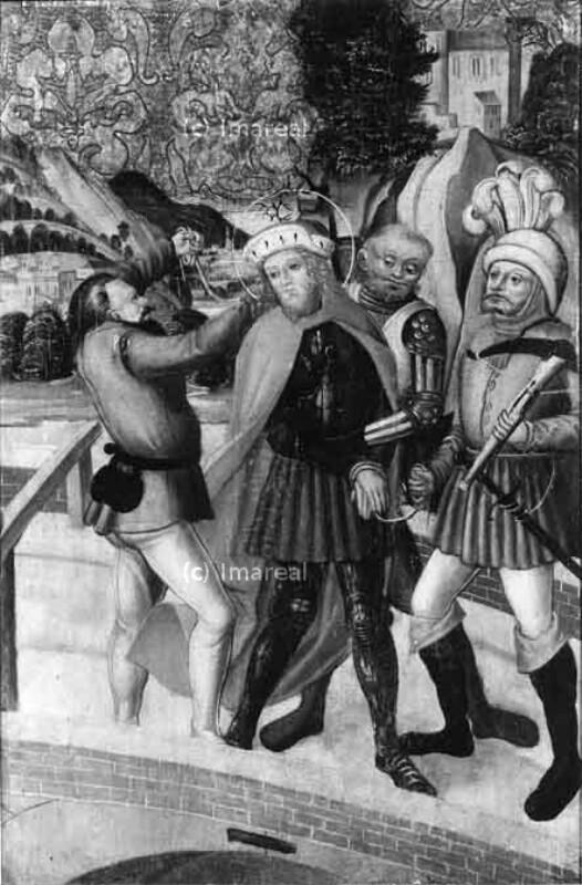 Hl. Florian lässt sich an der Ennsbrücke gefangen nehmen