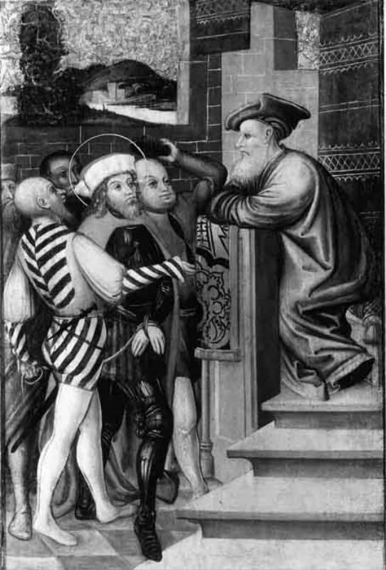 Verhör des Hl. Florian vor dem Statthalter Aquilinus