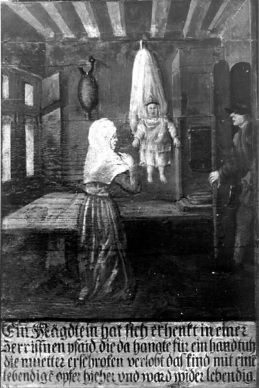 Errettung eines erhängten Kindes