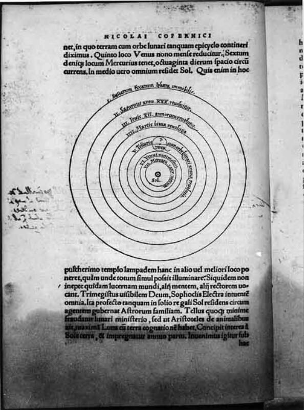 Sonne und Planetenkreisbahnen von Petreius Johannes