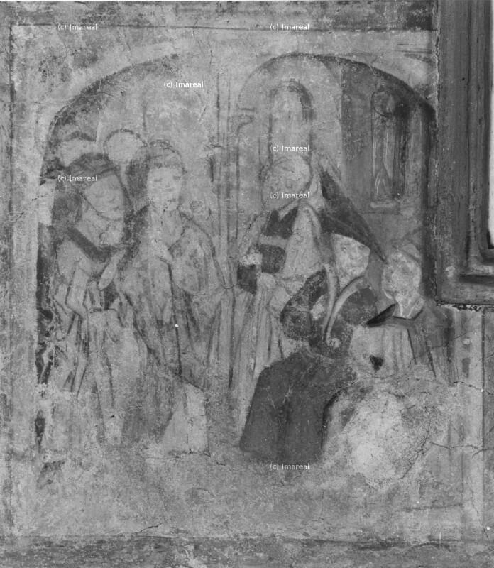 Judas bietet Kaiphas den Verrat Christi an