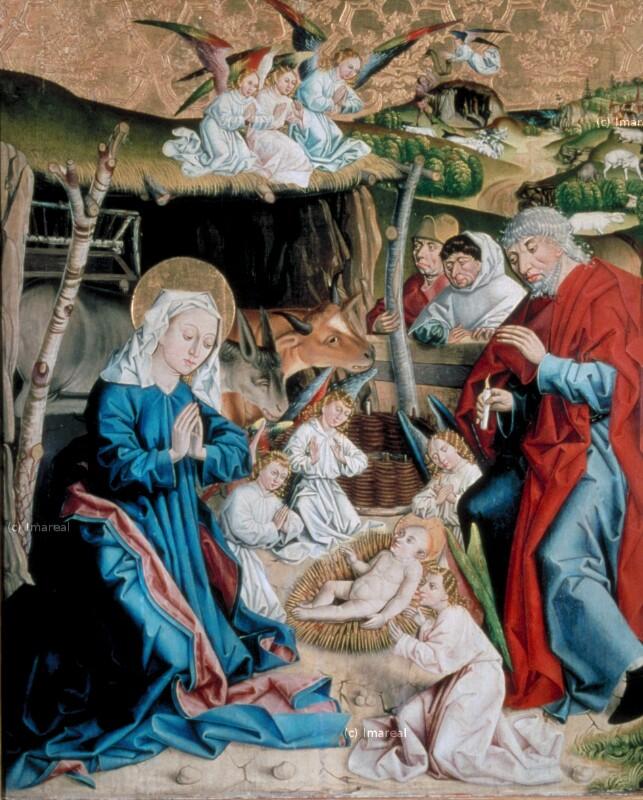 Geburt Christi von Meister des Eggelsberger Altars