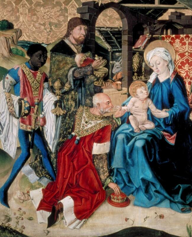 Anbetung der Könige von Meister des Eggelsberger Altars