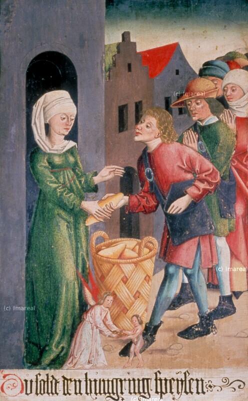 Werke der Barmherzigkeit von Meister S. H. von 1485