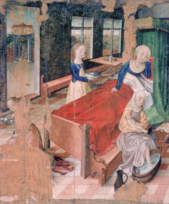 Geburt Mariens von Frueauf Rueland der Jüngere