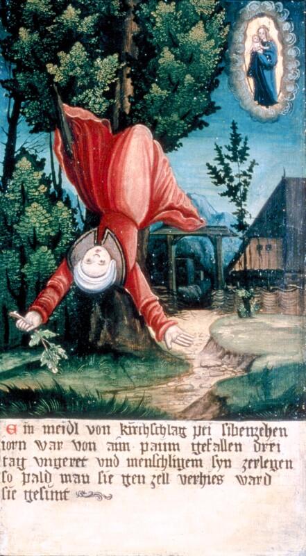 Sturz vom Baum von Meister der Brucker Martinstafel