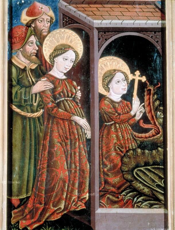 Hl. Margareta wird in den Kerker geworfen