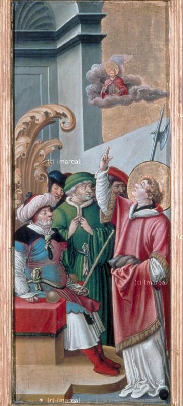 Disputation des Hl. Stephan mit den Juden von Meister der Brucker Martinstafel