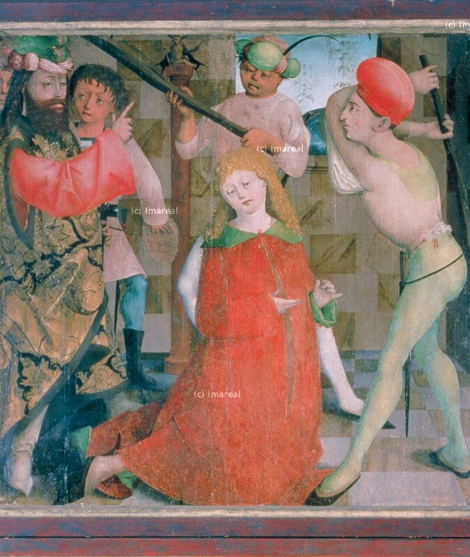 Keulenmartyrium des Hl. Florian von Meister des Krainburger Altars