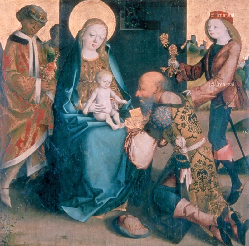 Anbetung der Könige von Meister des Krainburger Altars