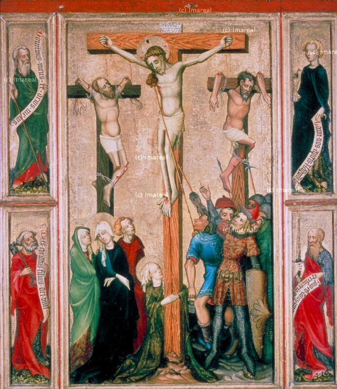 Kreuzigung Christi von Meister der St. Lambrechter Kreuzigungen