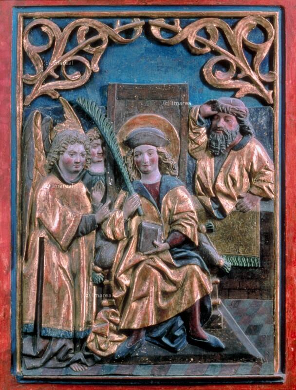 Engel besuchen den Hl. Vitus von