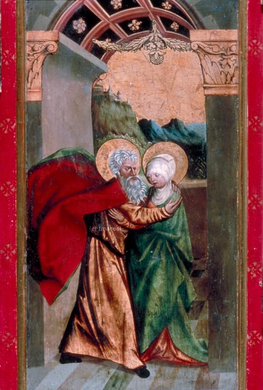 Begegnung an der goldenen Pforte von Melchior von St. Paul