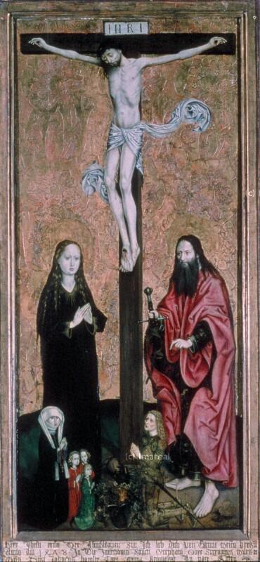 Kreuzigung Christi von Meister des Schottenaltars-Umkreis