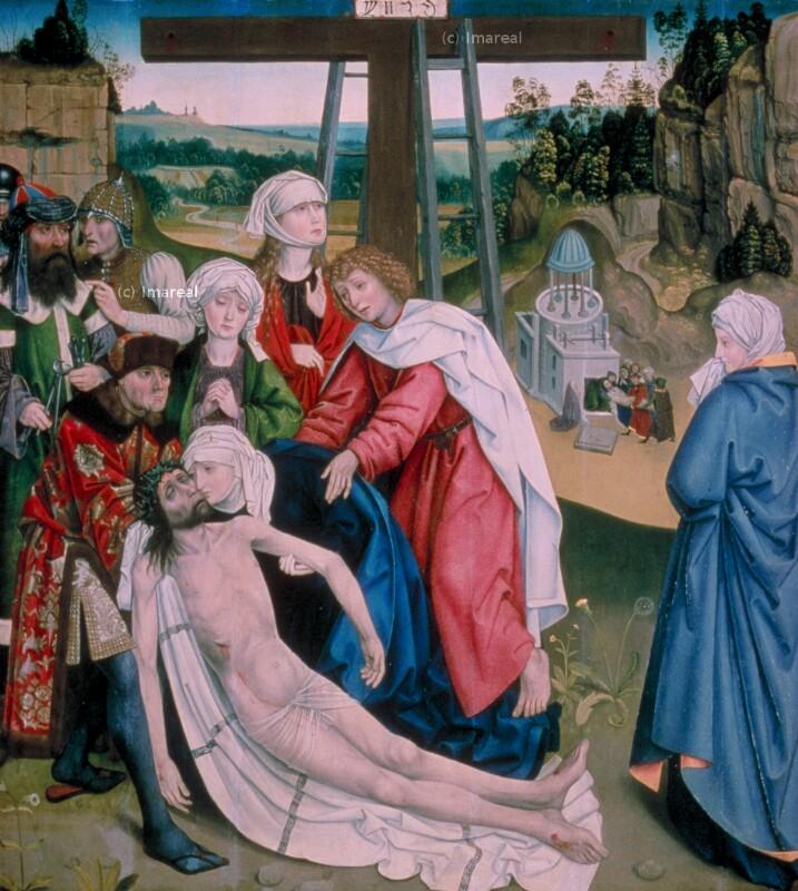 Grablegung Christi von Meister des Schottenaltars