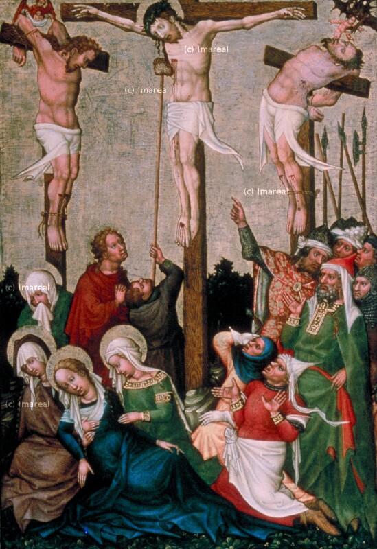 Kreuzigung Christi von Meister der St. Lambrechter Votivtafel