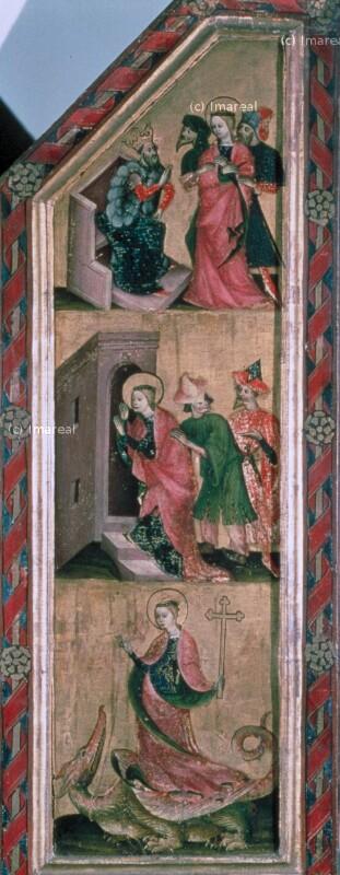Hl. Margareta bezwingt mit dem Kreuz den Drachen von