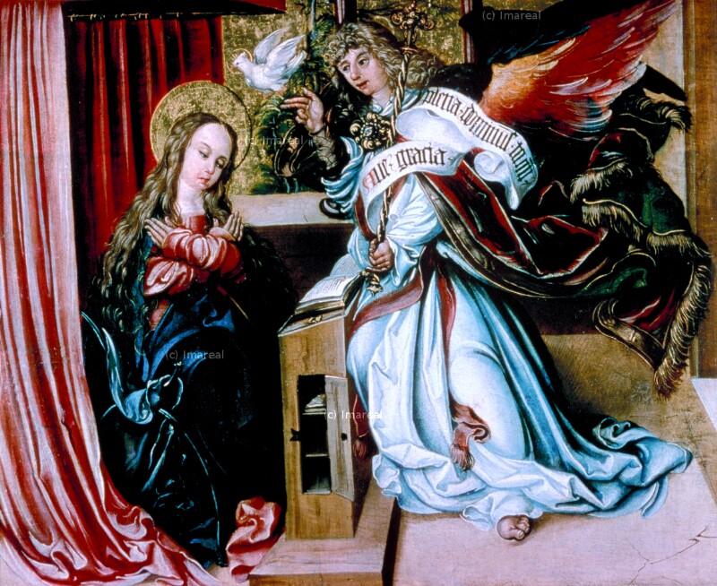 Verkündigung an Maria von Meister des Gedersdorfer Altars