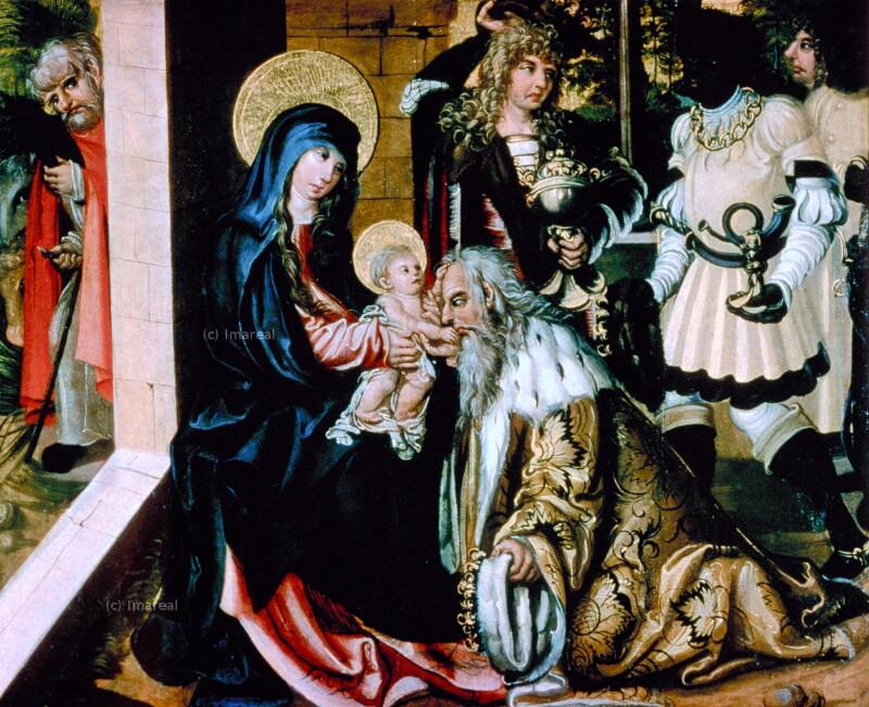 Anbetung der Könige von Meister des Gedersdorfer Altars