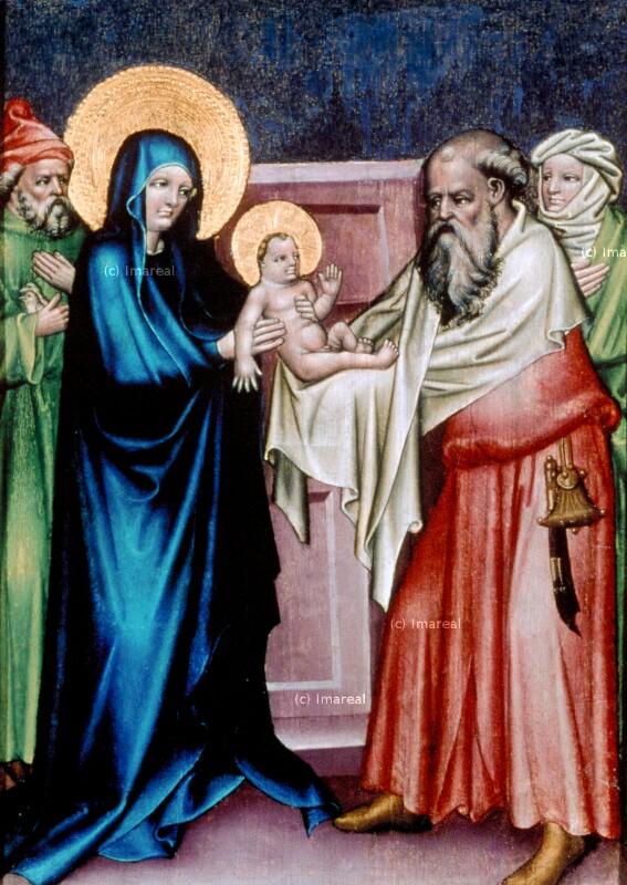 Darbringung Jesu im Tempel von Meister des Weildorfer Altars
