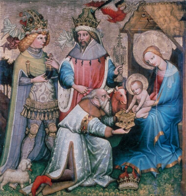 Anbetung der Könige von Meister des Halleiner Altars
