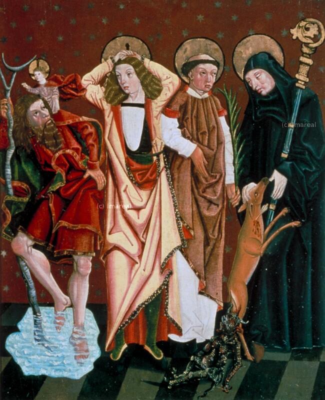Hl. Christophorus von Meister des Laufener Nothelfer Altars