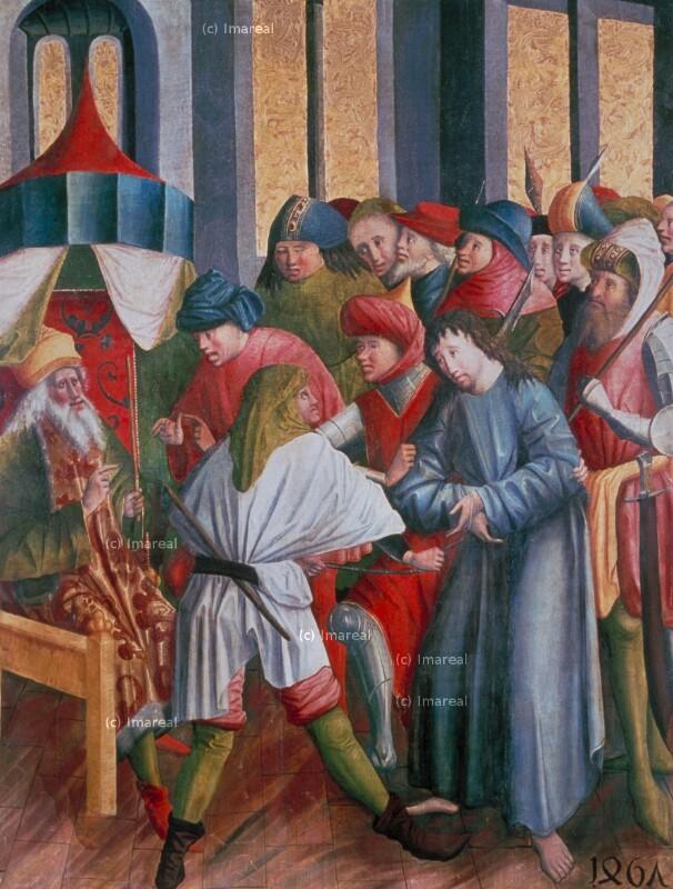 Christus vor Kaiphas von Meister des Laufener Hochaltars
