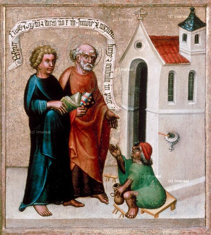 Hl. Petrus und Hl. Paulus heilen einen Lahmen von