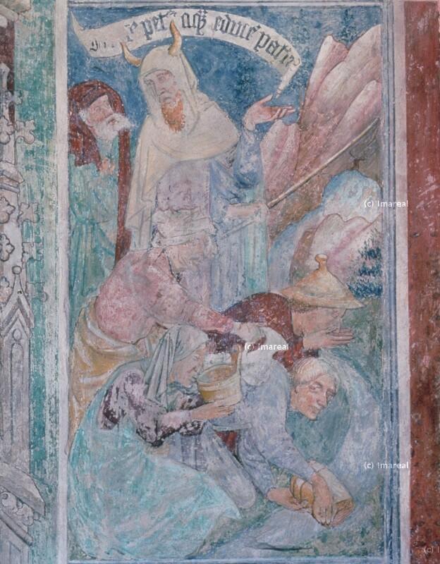 Mose schlägt Wasser aus dem Felsen von Thomas von Villach