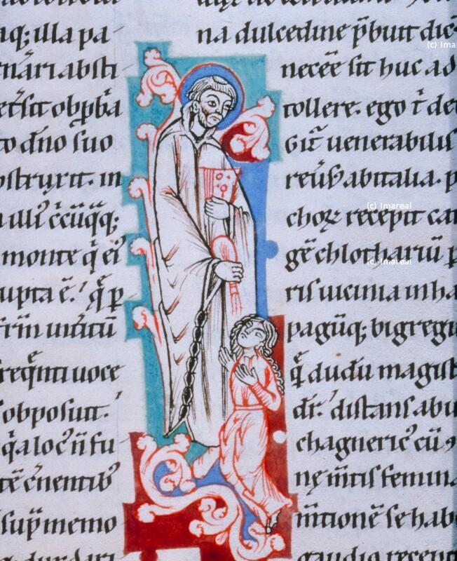 Blindenheilung durch den Hl. Eustasius von Luxeuil