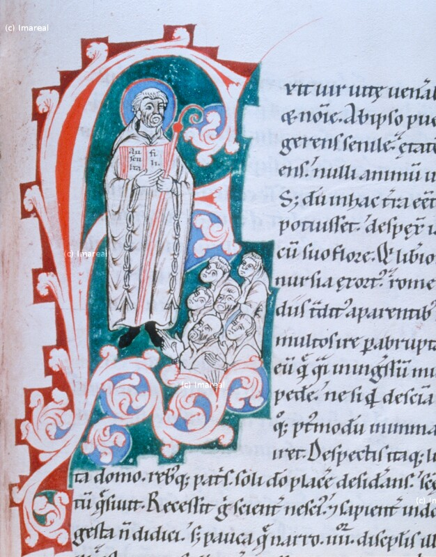 Verkündigung der Ordensregel durch den Hl. Benedikt