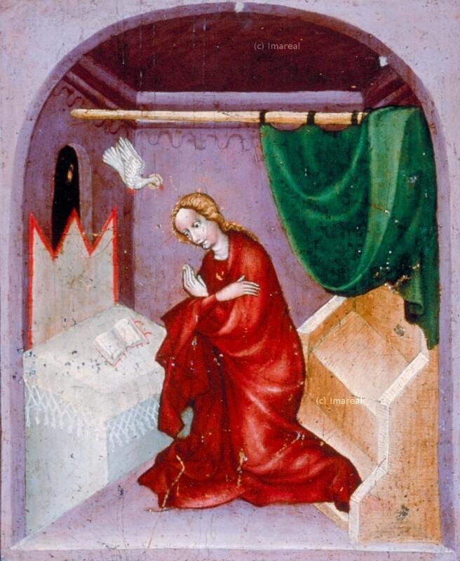Verkündigung an Maria von Meister des Stiftergruftaltars