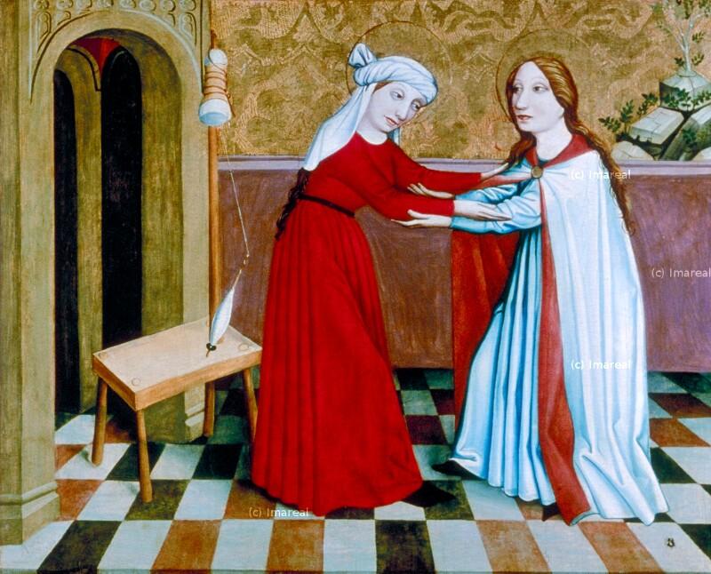 Heimsuchung Mariens von Meister des Fastentuchs