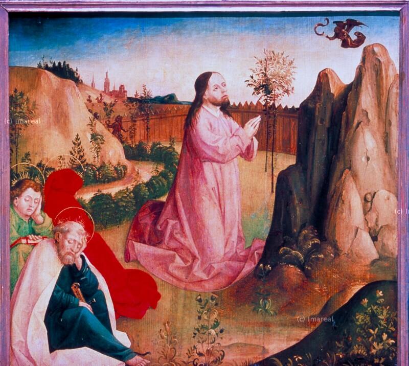Gebet Jesu am Ölberg von Meister der Veitslegende