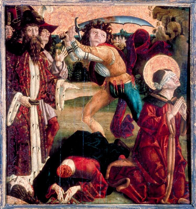 Enthauptung der Hll. Kosmas und Damian von Pacher Friedrich