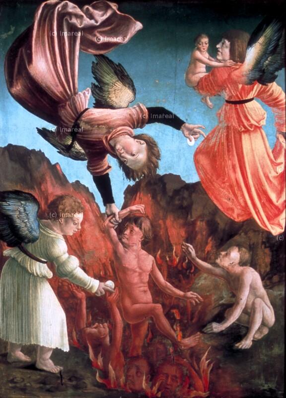 Errettung der Seelen aus dem Fegefeuer von Meister von Niederolang