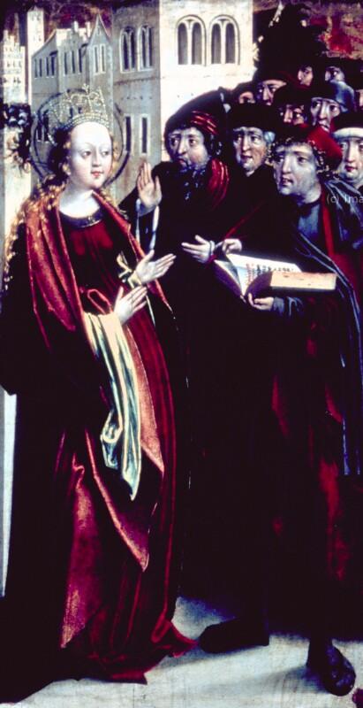 Disputation der Hl. Katharina mit den Philosophen von Stürhofer Nikolaus