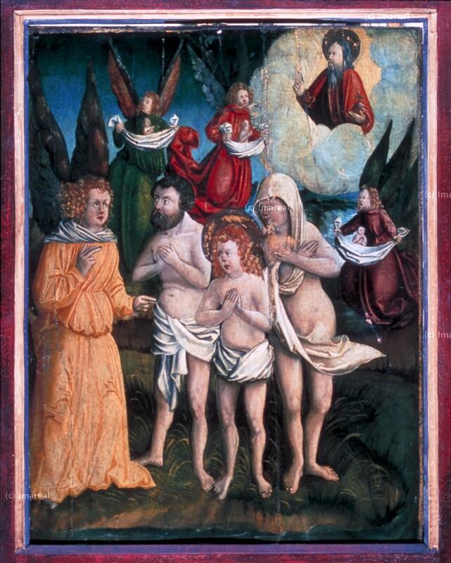Glorie des Hl. Vitus, des Hl. Modestus und der Hl. Krescentia von Kölderer-Umkreis