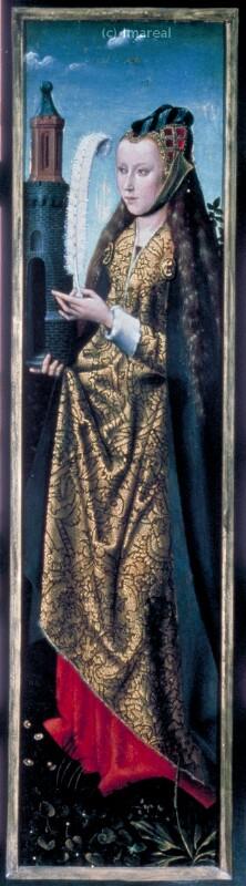 Hl. Barbara von Meister der Hl. Sippe