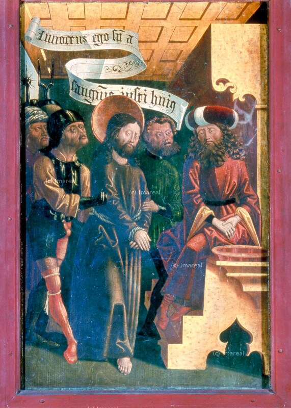 Christus vor Pilatus von Pacher-Umkreis