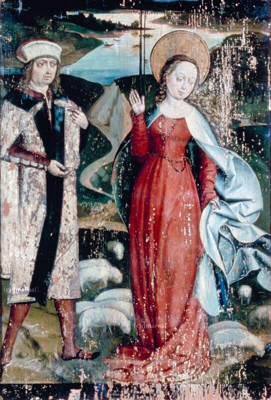 Brautwerbung des Olibrius um die Hl. Margareta