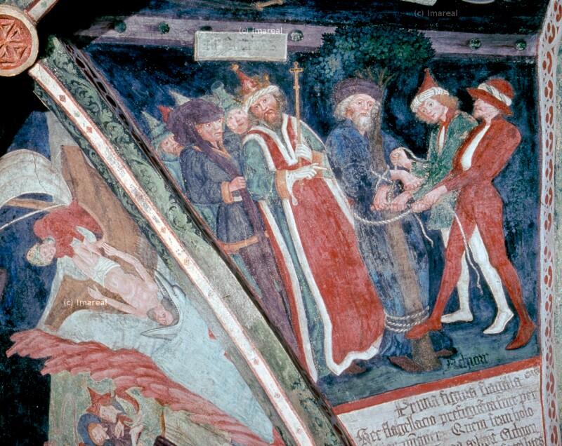 Achior wird an den Baum gebunden von Leonhard von Brixen