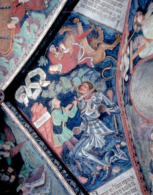 David tötet Goliat von Leonhard von Brixen